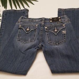 MISS ME JEANS Size 30 JP5022 Flap Pocket Denim